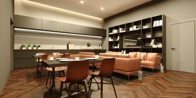 Kotikatu365-konsepti sisältää yhteisiä tiloja, kuvassa esimerkki yhteisestä keittiöstä/kahvihuoneesta