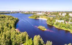 Hyvä asuinalue Oulussa on Lipporanta, josta tämä ilmakuva on